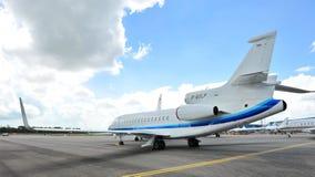 猎鹰7X在显示的企业喷气机在新加坡Airshow 2012年 免版税库存图片