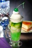 猕猴桃圣代冰淇淋香草 库存图片
