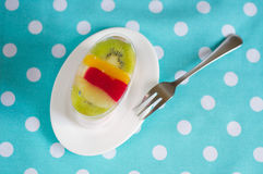猕猴桃果冻蛋糕 库存照片