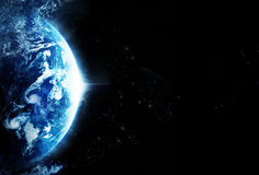 猛冲行星地球,空白的文本-从美国航空航天局的原始的图象上 图库摄影