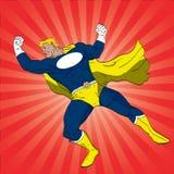 猛击的超级英雄 库存照片