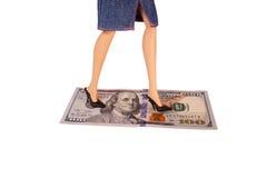 猥亵金钱 免版税库存图片