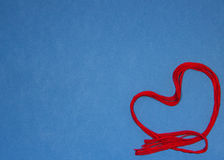 猩红色心脏 图库摄影