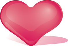 猩红色心脏 库存图片