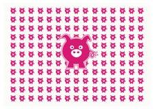 猪动画片 免版税图库摄影