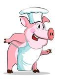 猪厨师-主厨暂挂 库存照片