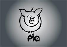 猪向量 皇族释放例证