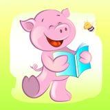 猪和蜂 免版税库存照片