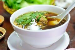 猪排汤用中国草本 库存照片