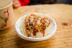 猪油米在Jiufen 图库摄影