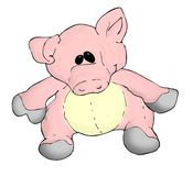 猪玩具 免版税库存照片
