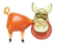 猪由菜做成 免版税库存图片