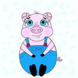 猪的例证 皇族释放例证