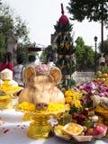 猪的顶头牺牲提供 免版税库存照片