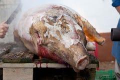 猪的头发撤除 免版税图库摄影