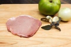 猪肉一片无骨的肉 库存照片