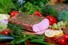 猪肉产品 免版税图库摄影