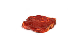 猪肉原始的牛排 免版税库存照片