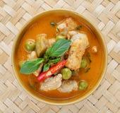 猪肉咖喱,泰国烹调 库存照片