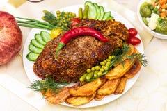 猪肉开胃被烘烤的内圆角  免版税库存图片