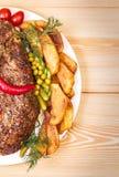 猪肉开胃被烘烤的内圆角  库存照片