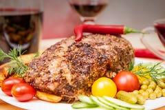 猪肉开胃被烘烤的内圆角  免版税图库摄影