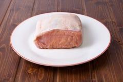 猪肉未加工的腰部  库存图片