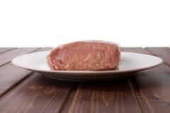 猪肉未加工的腰部  免版税库存图片