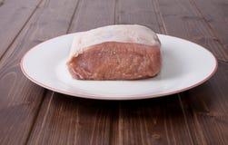 猪肉未加工的腰部  免版税库存照片