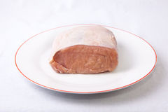 猪肉未加工的腰部  库存照片