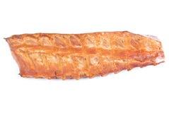 猪肉机架肋骨抽烟了 图库摄影