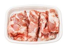猪肉汤的脊椎骨头 免版税库存照片
