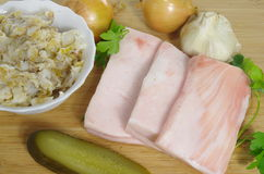 猪肉油脂 库存图片