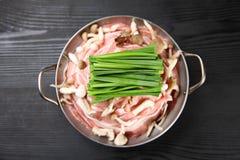 猪肉火锅粮食  图库摄影