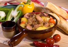 猪肉炖煮的食物 库存照片