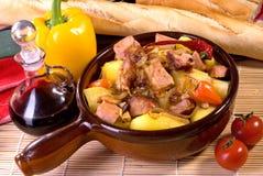 猪肉炖煮的食物 库存图片