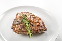 猪肉烤丁骨牛排剁  免版税库存照片