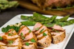猪肉烤里脊肉 免版税图库摄影