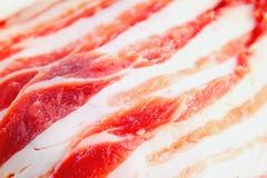 猪肉片式 免版税库存照片
