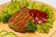 猪肉牛排 库存图片