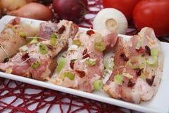 猪肉的新鲜的肉 免版税图库摄影