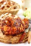猪肉的烤指关节 库存图片