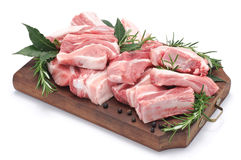猪肉肋骨 图库摄影