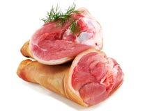 猪肉腿小腿用茴香 库存图片
