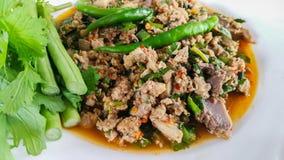 猪肉,沙拉,泰国食物,开胃菜,辣椒 库存图片