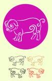 猪装饰 库存照片