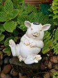 猪陶瓷玩偶 库存图片