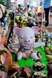 猪陶瓷玩偶 免版税图库摄影