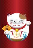 猫中国小雕象白色 免版税库存照片