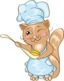 猫主厨 库存照片